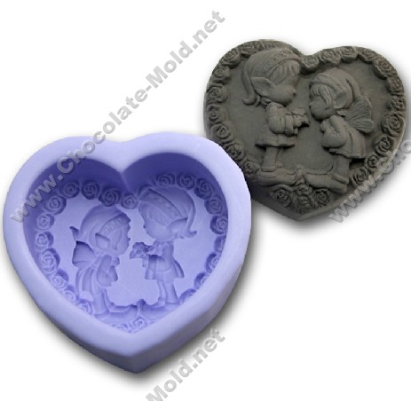 DIY first love Chocolate mold Cake mold cooky mold R0984 rtv silicone rubber(China (Mainland))