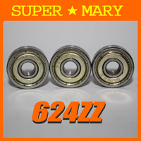 624-2z 10pcs 624ZZ bearing 4x13x5mm Metal Shielded Ball Bearings BK112#10