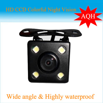 Factory selling rear view mini car camera back up camera with 4LED