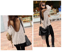 Sexy Womens Sheer Mesh Back Tops See Through Long Sleeve Blouse Casual Pullover