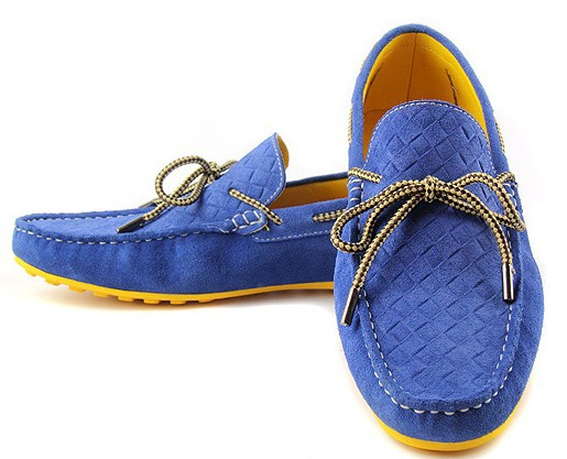 New Arrived!!!2013 Four Seasons Of Shoes Men Casual Flats Shoes Genuine Leather Driving Shoe 10 Colors 6 Size,Free Shipping(China (Mainland))