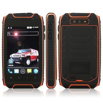 HUMMER H1 MTK6515 Android 3 proof phone AGPS WIFI ip57 Waterproof dustproof shockproof Russian Mobile Phone Free shipping