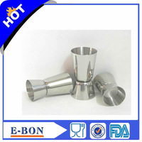 Bar Tool 18/8 Stainless Steel Jigger Bar Measuring Cup Drink Mixer Ounce Cup OZ Cup 2pcs/lot Drop&Free Shipping