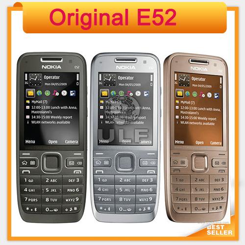 Nokia E52 Original Mobile Phone Camera 3.2MP Bluetooth WIFI GPS Unlocked E52 Cell Phone(China (Mainland))