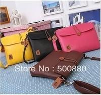 Free shipping hot sell Women's vintage messenger bag shoulder PU envelop bag 5colors available