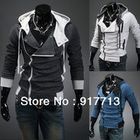 Hot ! Free Shipping!  2013 Fashion New Men's Assassin's Creed Costume Slim Hoodie Sweatershit Coat Jacket Assassins Creed