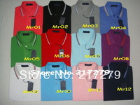 Mr T-shirt shirts Casual Slim Fit Short Sleeve Cotton T shirt Size M - XXL  New mens  polo shirt brands