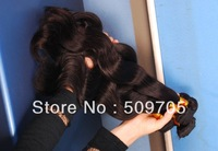 GuangZhou Virgin Brazilian Hair Remi Human Hair 3pcs lot Grade 5A Queen Brazil Virgin Remy Hair Extension 1B  Free Shipping