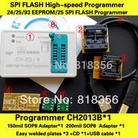 SPI FLASH High-speed Programmer CH2013B+150mil SOP8+208mil SOP8 Adapter FLASH/EEPROM Programmer
