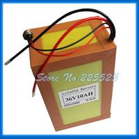 Lifepo4 36v 10Ah Battery Pack below 1000W for electric bike, EV battery free BMS