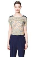 2013 Summer Brand Women's Beautiful Printed Pullover Chiffon Shirt,Sleeveless Round Neck Loose Casual Blouse/ Under Shirt cs80