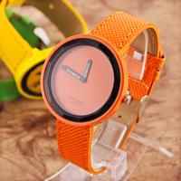 Hot 10pcs/lot Sweet Candy Analog Quartz Watch Unisex Fashion Wristwatches Round Dial PU Strap Watches 2014