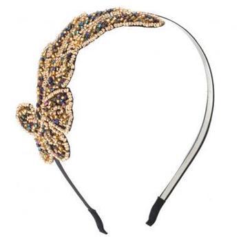 Elegant Women Stylish Fashion Cute Trendy Bling Angel Beads Wing Headband Hair Band Gift #11237