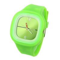 10pcs/lot Fashion Watches Plastic Glass Square Women Watch Analog Silicone Strap Quartz Wristwatches New 2014 Hot Sale LJX18