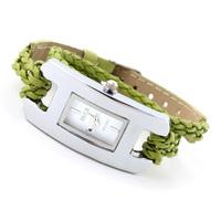 10pcs/lot New 2014 Fashion Watches Glass Analog Women Bracelet Watch Acrylic Rectangle Quartz Wristwatches Hot Promotions CSS01