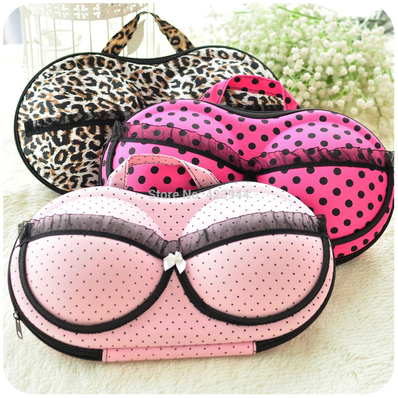 Hearts . underwear storage box covered bra box panties socks travel po