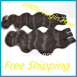 "Cheap 12""-28"" 5 pcs Lot Mixed Lengths Queen Indian Body Wave Hair Wefts Remy Human Hair Extension Weave No Shedding Wholesale(China (Mainland))"