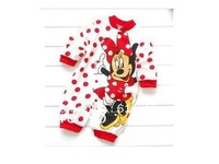 Free shipping cartoon rompers clothing for kids baby rompers infant long sleeved romper baby clothes color RED