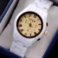 Relojes Para Mujer 2014 MCE Woman White Fake Ceramic Watch Casual Fashion Ladies Relogio Feminino Women Dress Watches