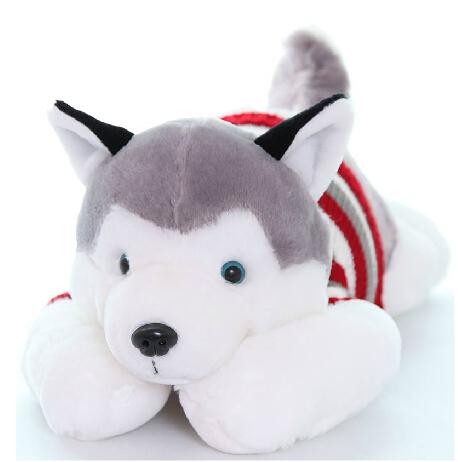 Plush toy dog pillow husky dog Large doll cloth doll birthday gift WJ003(China (Mainland))