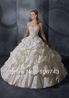 free shipping dresses new fashion 2014 vestido de noiva marriage ball gown Sexy bride romantic sweetheat vintage wedding dress