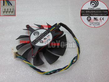 Free Shipping For NVIDIA graphics card fan PLD06010B12M 12V 0.25A pitch 3.9cm diameter 5.4cm