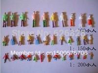 100pcs  scale 1/100 color model plastic figure model humans