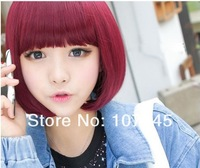 2013 New Straight Synthetic Short Bob Wigs For Afro Black Womens,Consume Cosplay Makeup Full Wigs Caps Free Shipping New