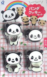 Free shipping panda cookie mold biscuit stamp cutter bento DIY 3D kawaii gadget japanese kitchen bakeware novelty baking tool