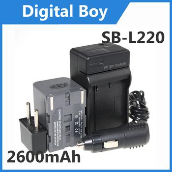 SB L220 2600mAh Battery+Charger+Car charger+Plug adapter for SAMSUNG SB-L220 SBL220 SB-L70 SB-L70A L70R SB-LS70AB