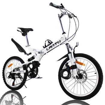 2015 Real New Downhill Bicicletas Mountainbike Fast free Shipping 20'' Folding Mountain Bicycle Steel 7 Speed Disc Brakes Bike