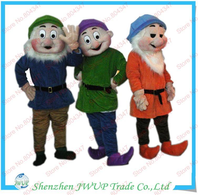 Newest Hot Sales Seven Dwarfs Mascot Costume Fat Animal Mascot Costume Movable Mascot Costume For Free Shipping(China (Mainland))