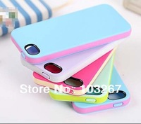 Free shipping Hot New  Multi-Color TPU Back Cover Case For iPhone 5 5S (Assorted Colors)