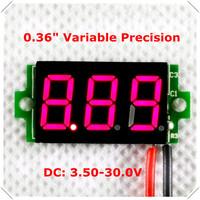 "0.36"" Mini Variable Precision Digital Voltmeter DC3.5-30V 2wires Vehicles Motor Voltage Panel Meter led Color: Red [10pcs / lot]"