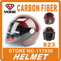 2013 New Yohe 823 Motorcycle Helmet Flip Up Open face Carbon Fiber Road Racing Top Safety  Protective Wholesale&Free Shipping