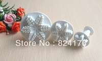 Free shipping 3PCS Snowflake cake cookies machine plunger paste sugar craft decorating tools