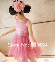 Wholesale 5 Pcs Baby Girls Dresses Sequins gauze tutu princess  Desses for Summer AD-1