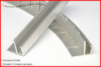 F Aluminum Profile for Stretch Ceiling Film , 1.25meters per piece ; 2.5 meters per piece