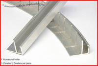 F Aluminum Profile for Stretch Ceiling Film , 1.25meters per piece ; 2.5 meters per piece