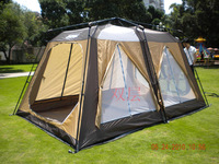 US$322 for USA 175cm height upscale 2 bedroom Duplex Automatic 2-layers tent camping tent Free shipping