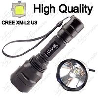 High Quality ~ 1800Lumens UltraFire C8 CREE XM-L2 U3 Type Pure White Light 7000K CCT LED Flashlight Torch Lamp