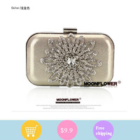 H1364 BLING Sequin Glittered Golden Clutch Elegant Evening Bag Free shipping Dropping shipping wholesale