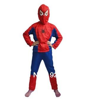 costume spiderman suit child spider man costume spiderman suit spider-man Cosplay costume child spider man Halloween Red