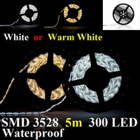 Beautiful SMD3528 5m DC12V 5m Waterproof 300LED strip Light LED bulb light