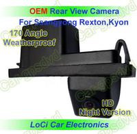 Free shipping! HD Rear View Ssangyong Rexton,Kyon CCD night vision car reverse camera auto license plate light camera