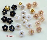 11mm, Kawaii flower buttons,rhinestone buttons for shirt,scrapbooking accessories(SS-738-378)