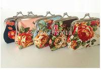Canvas metal frame clutch  black purse