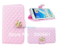 High Quality Flower Style FLIP PURSE Card holder Wallet Case Cover for Samsung Galaxy Note II 2 N7100