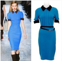 Free Shipping Spring And Summer New 2014 Hot Sale Victoria Beckhams Slim  Package Hip Pencil Dress