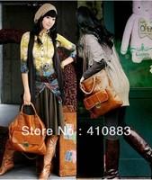 Free Shipping / 2013 Brands Fashion Lady  leather handbag Leather Shoulder Bag handbags / A056